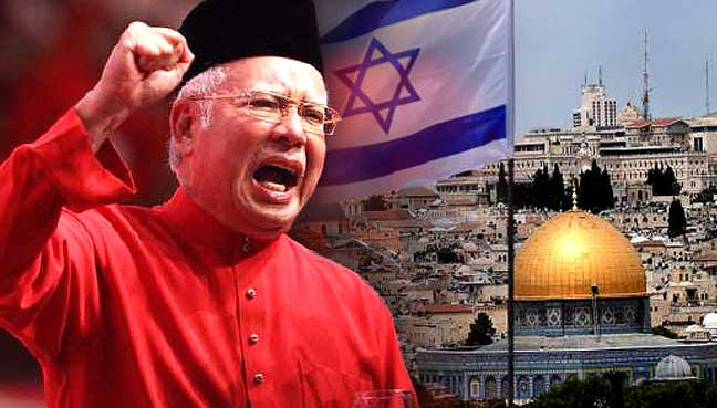 Image result for Najib Razak and Jerusalam