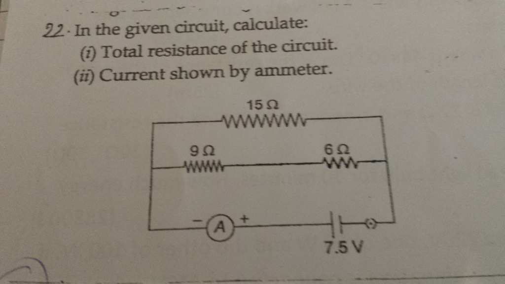 In The Given Circuit, Calculate: 1) Total Resistance Of