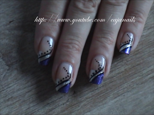 Silver Laser Flash Nail Art