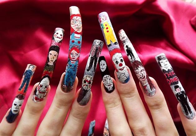 Horror Movie Character Nail Art Full