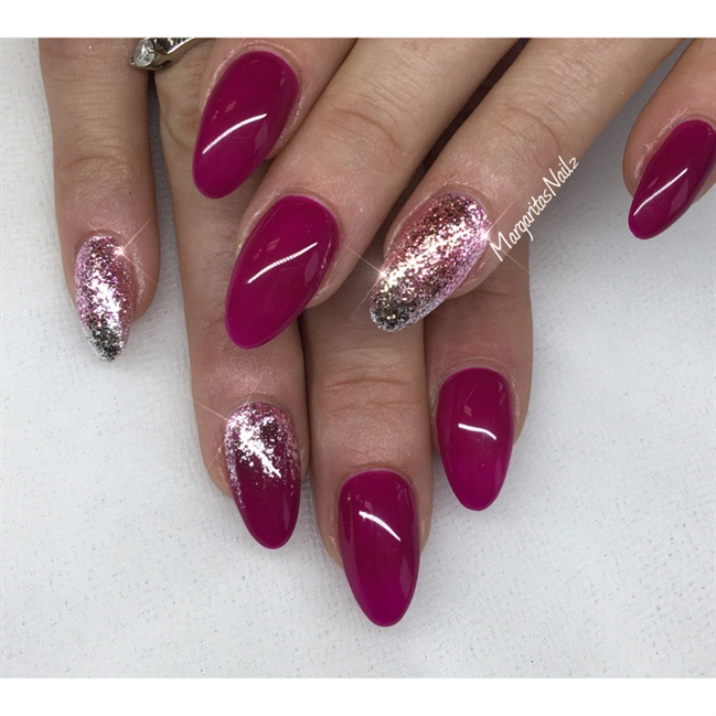 After Cleaning Your Brush Again Apply Disco Glitter Gel Down The Center Of Nail
