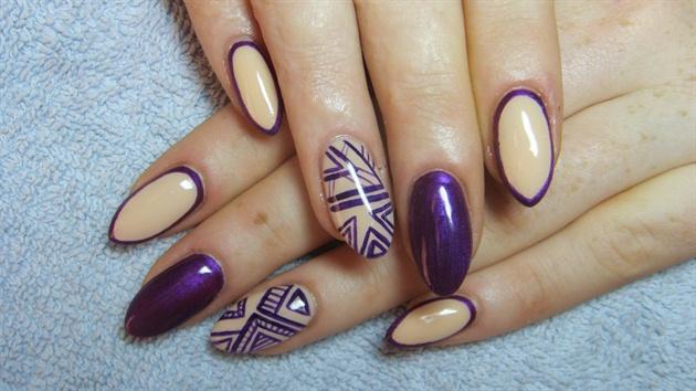 And Dark Purple Nails
