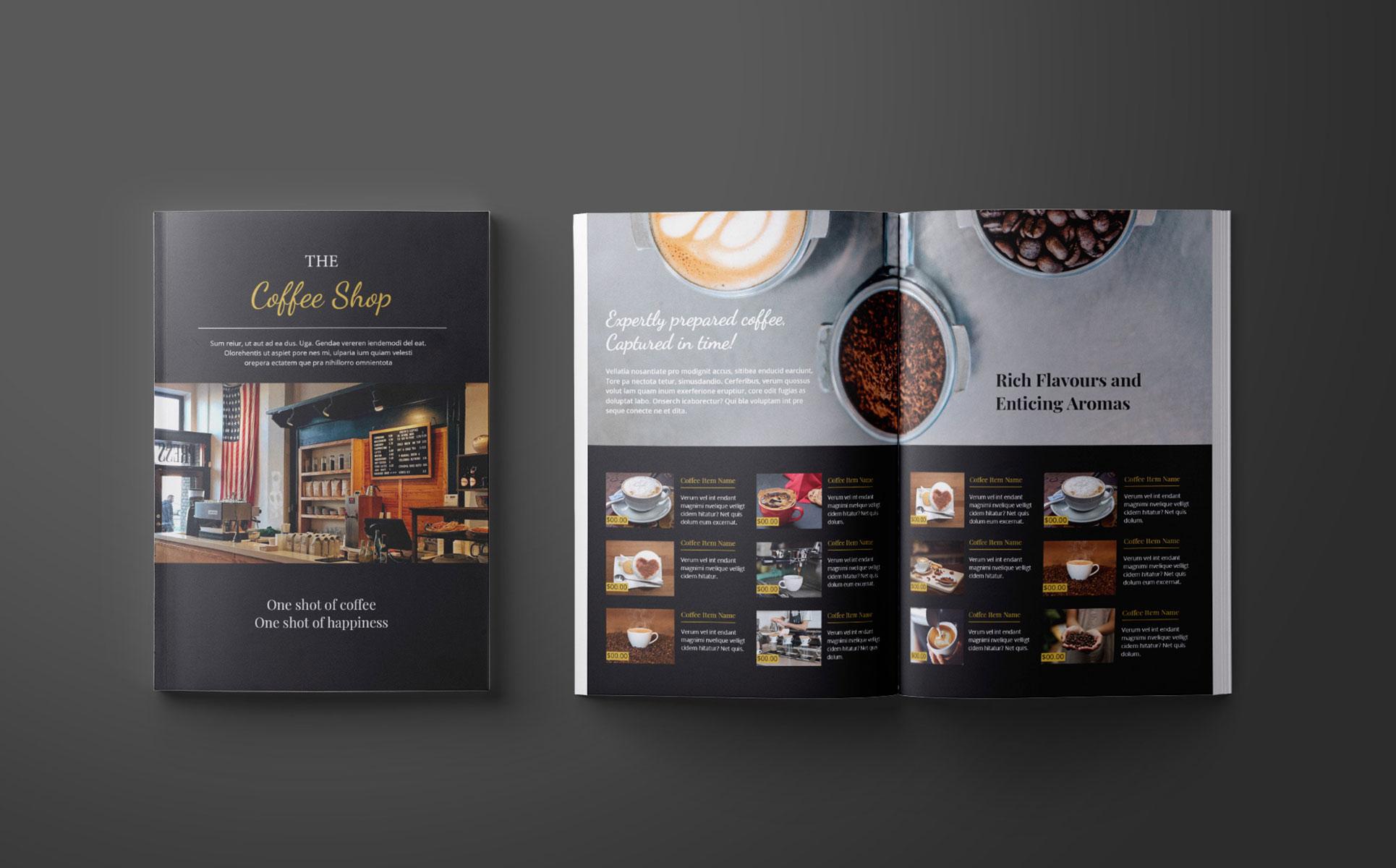 Coffee Shop Catalog