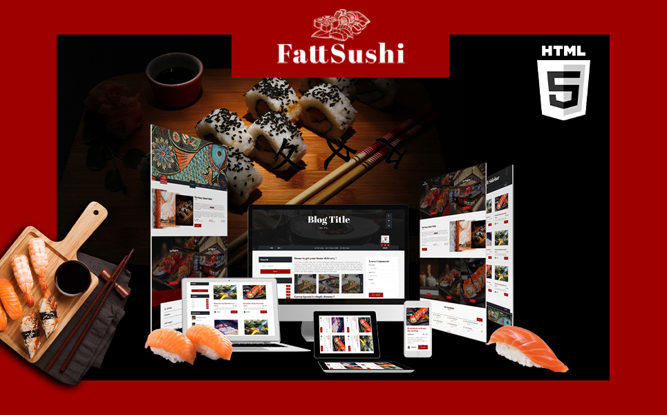 Fattsushi | Japanese Sushi Restaurant HTML5 Website Template