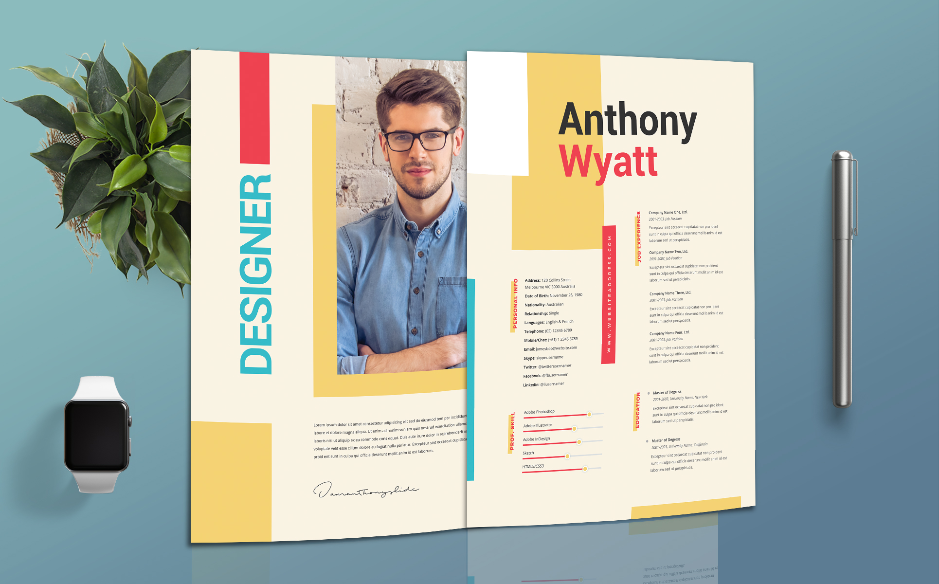 Designer Professional Resume Template