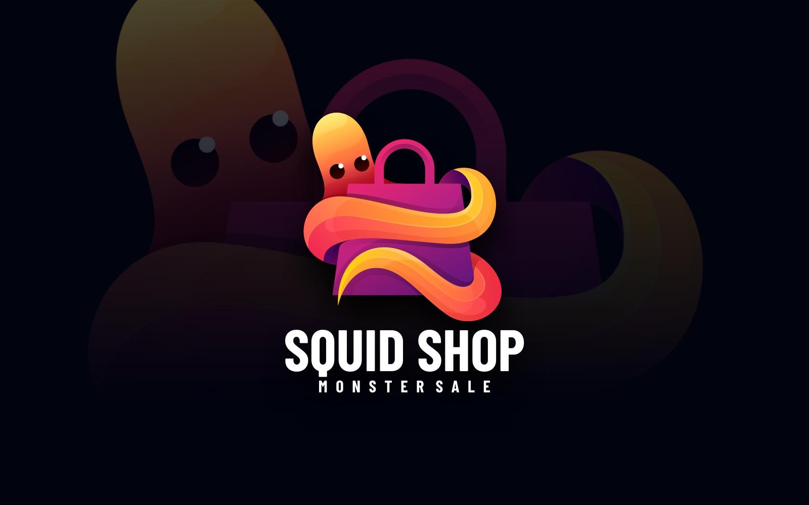 Squid Shop Gradient Colorful Logo
