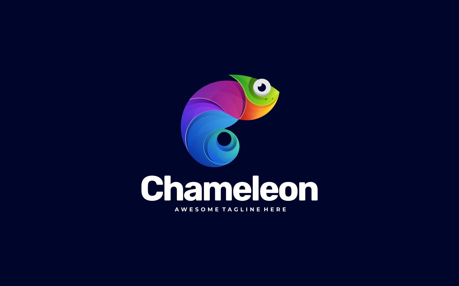 Creative Chameleon 3D Gradient Colorful Logo