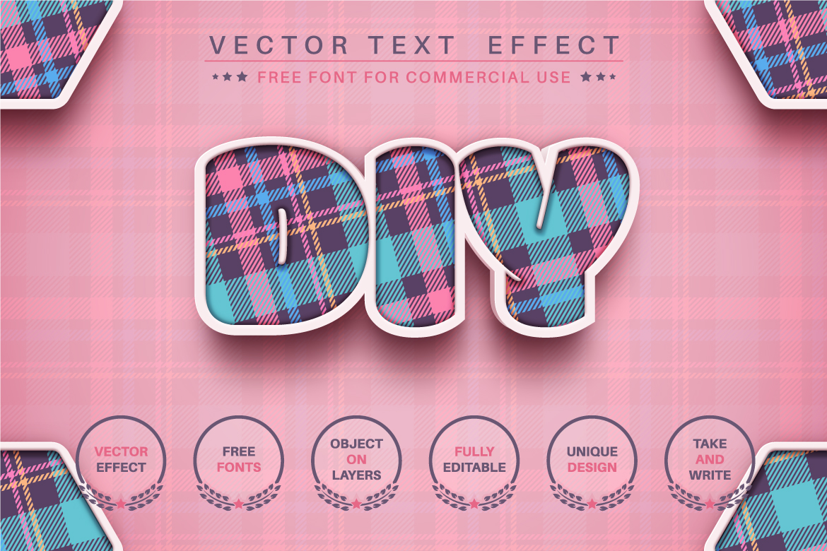 3D Craft - Editable Text Effect, Font Style, Graphics Illustrations