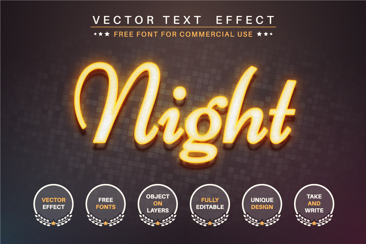 Yellow Laser - Editable Text Effect, Font Style, Graphics Illustrations
