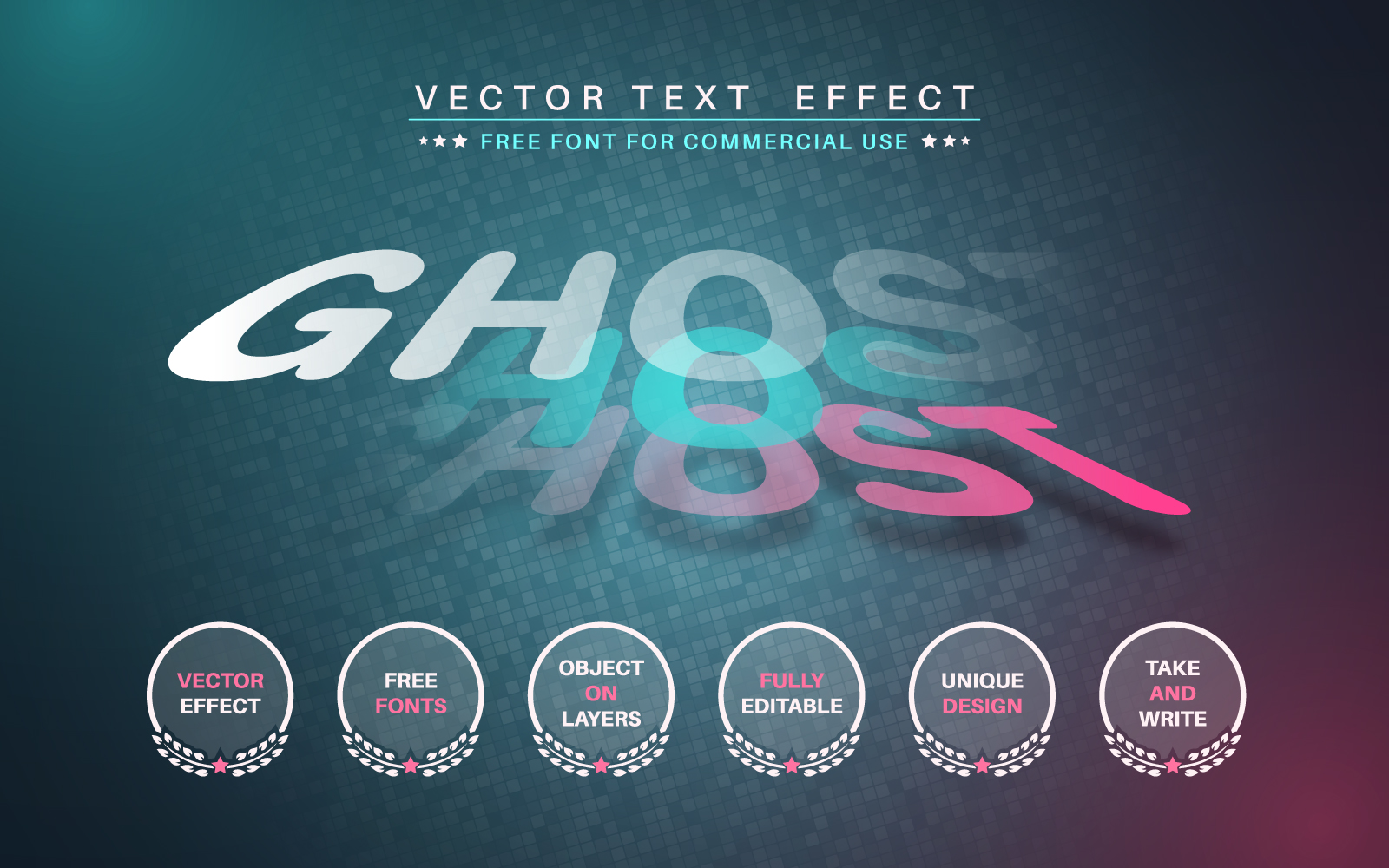 Ghost - Editable Text Effect, Font Style Graphic Illustration