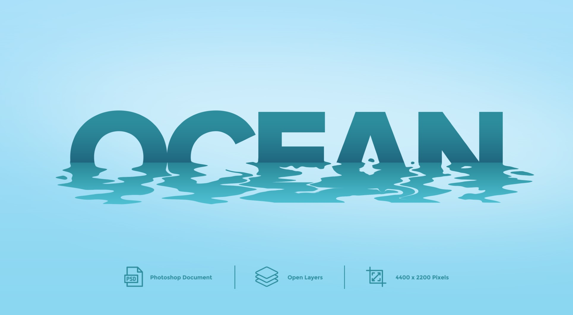 Ocean Photoshop Text Effect And layer Style