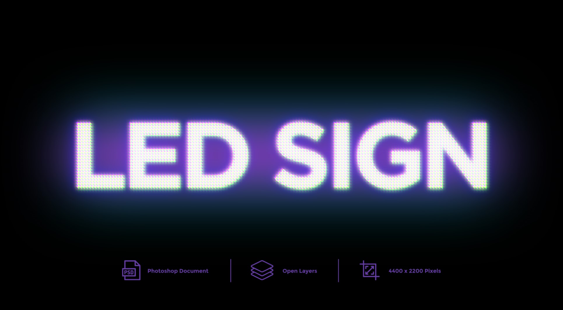 LED Sign Text Effect And Layer Style