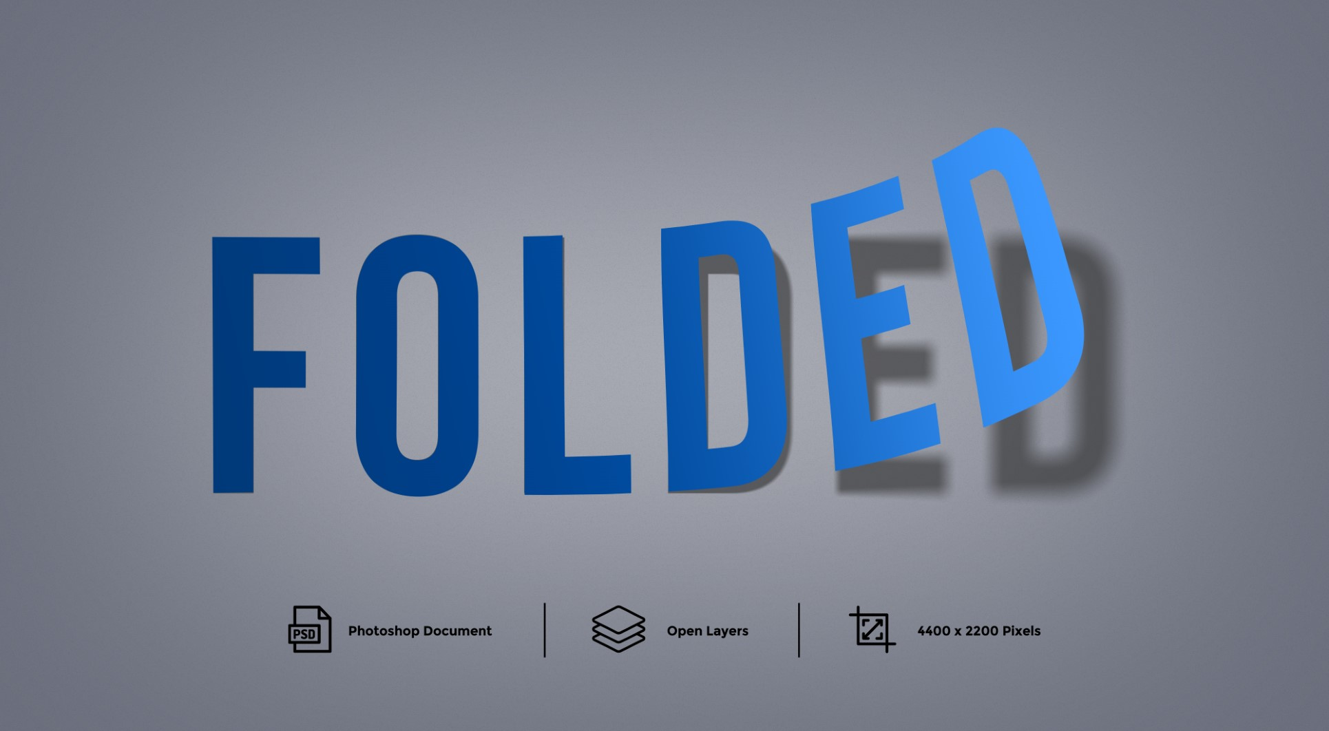 Folded Text Effect Layer Style