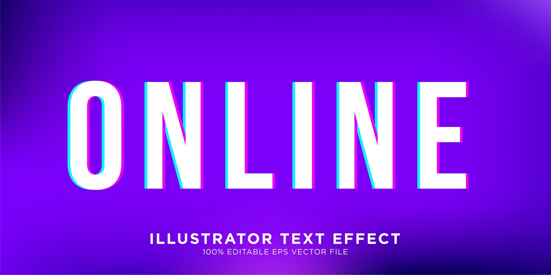 Online illustrator Text Effect Illustration