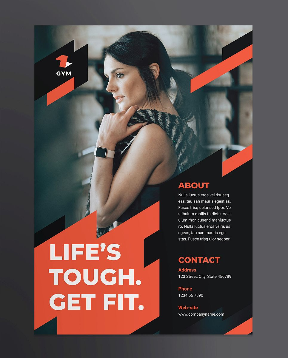 Professional Gym Poster Design Template