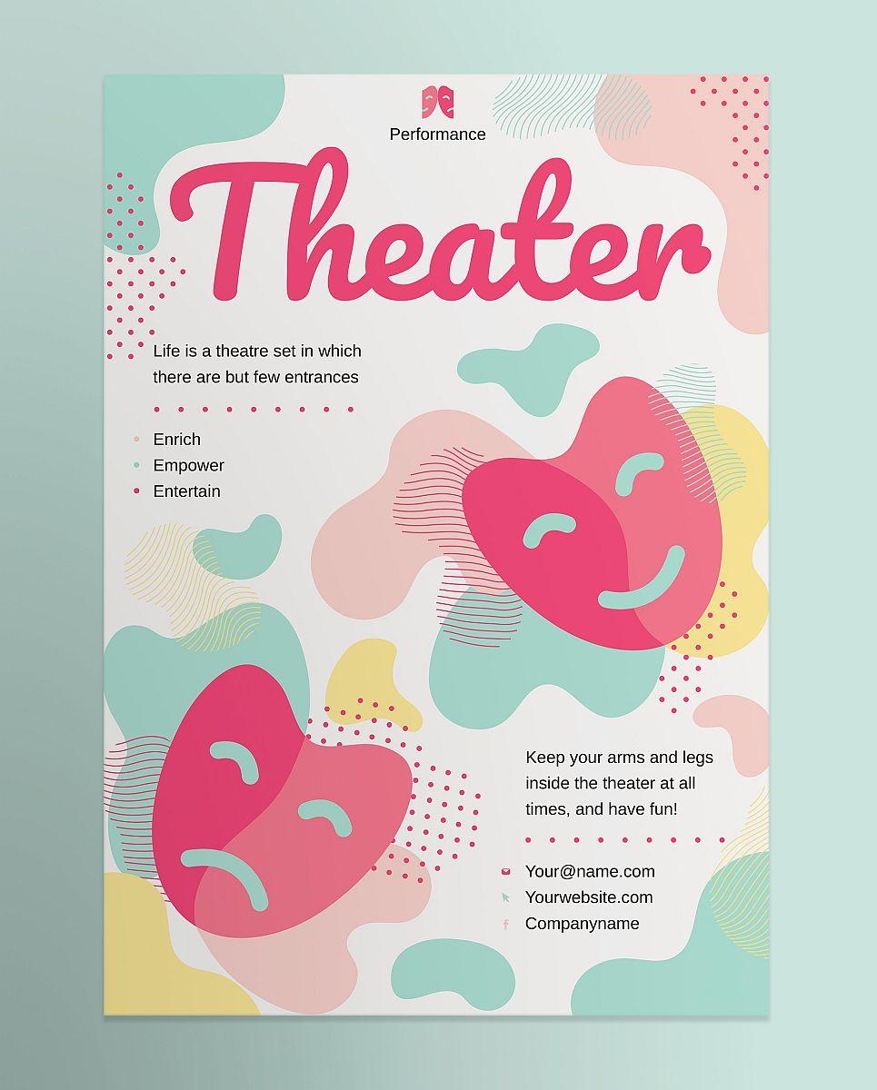 Creative Theater Poster Design Template