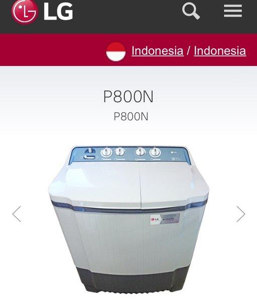 LG mesin cuci 8 kg P800N  - Free Ongkir