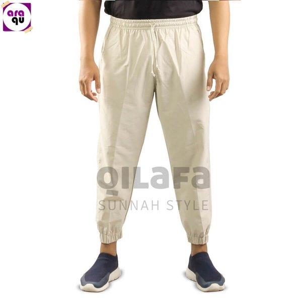 Celana Sirwal Sunnah Jogger La Isbal Bahan Katun