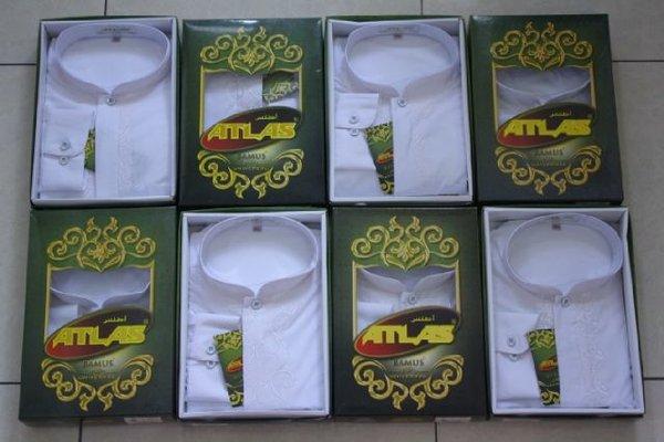 Promo Baju Koko Atlas Bamus Universal Warna Putih bahan berkualitas