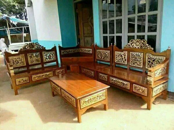 kursi tamu sudut ukir tempat tidur minimalis teras tempat tidur kayu jati kamar tidur meja rias almari