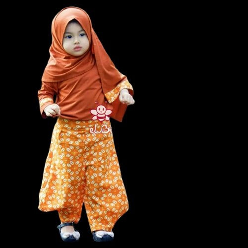 baju Muslim Anak hana Jasmine Set by Elbi bahan rayon halus premium ukuran S