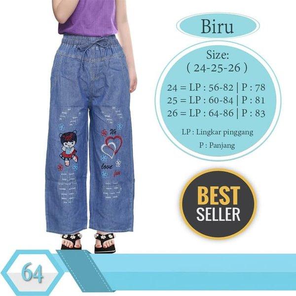 NEW Celana kulot panjang anak bahan jeans