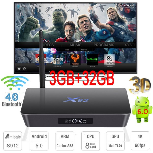 Terbaik  Ram 3  Rom 32  Android Tv Box X92 Octa Core 64 bit   Kodi 17.1 Loaded Terbaru