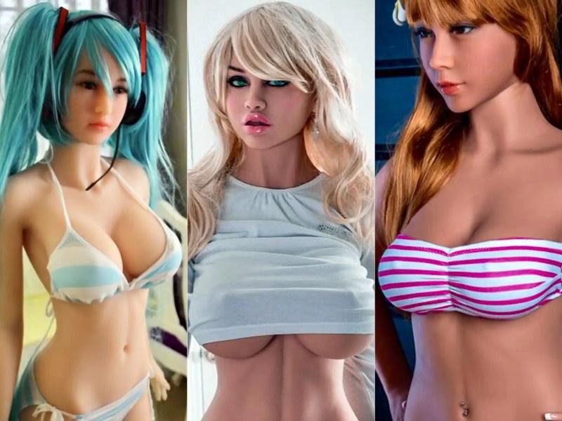 De izquierda a derecha: Aki, personaje de manga, Niky, la muñeca caucásica y Lily, la asiática