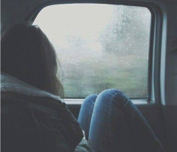 alone, car, cold, cols, girl, rain, rainy day, sad, tumblr, window