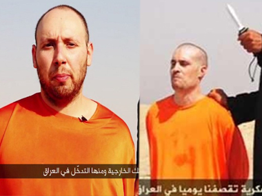 Screengrabs of the two videos showing the beheading of US journalists James Foley and Steven Sotloff. Agencies