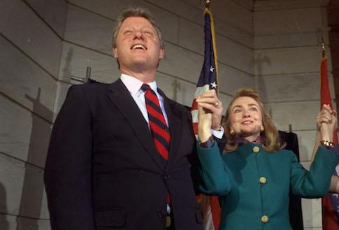 Bill and Hillary Clinton in Arkansas, 1991 / AP