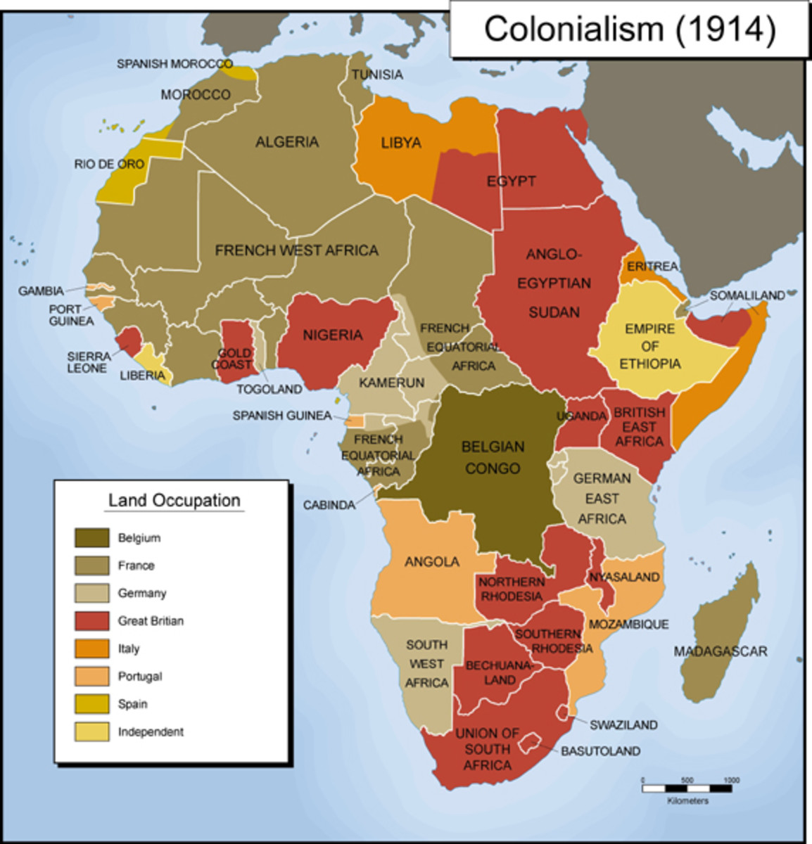 The Colonial Powers had no money, so each colony was charged with raising the revenue necessary to pay for all expenses, including  the colonial army and police force.
