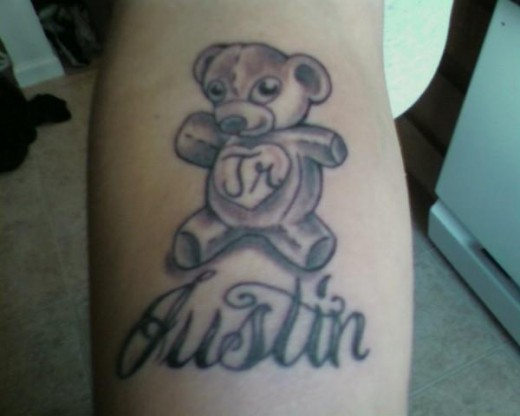 Must say I love this Teddy Bear Tattoo that Justine has got done,
