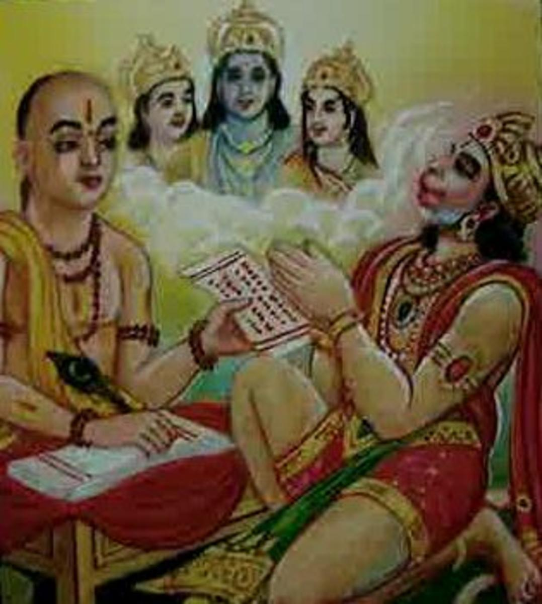 Picture depicting verse 10 of the Hanuman Chalisa