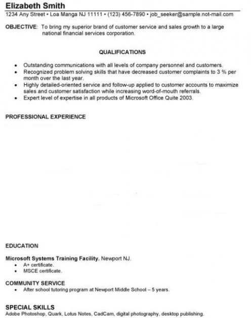 Entry Level Resume Examples With No Work Experience. The Perfect