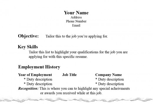 correct spelling of resumes - Template