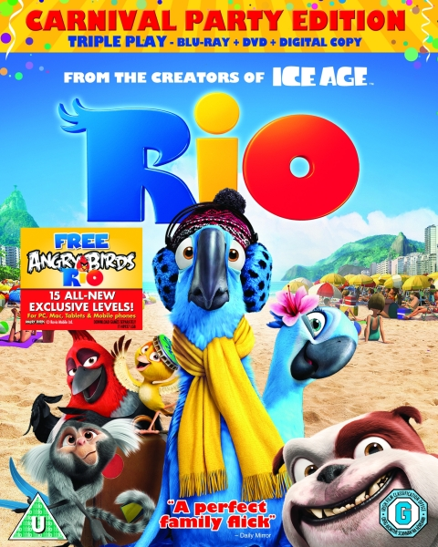 Rio Triple Play Includes DVD Blu Ray And Digital Copy