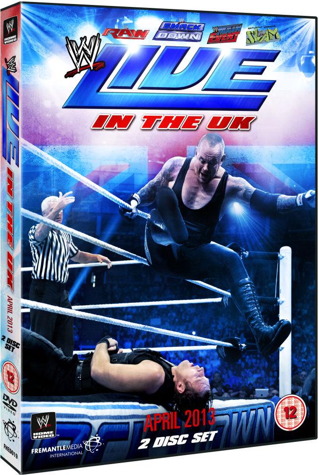 WWE Live In The UK April 2013 DVD Zavvi