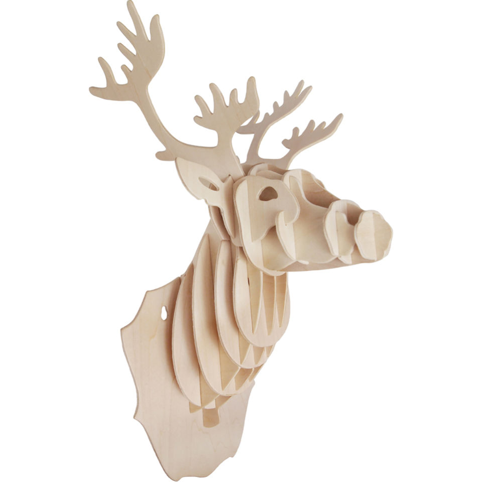 Wooden Stag Head IWOOT