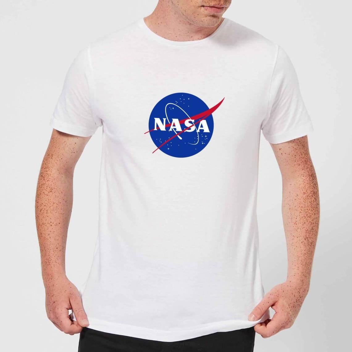 NASA Logo Insignia T-Shirt - White - M - Bianco