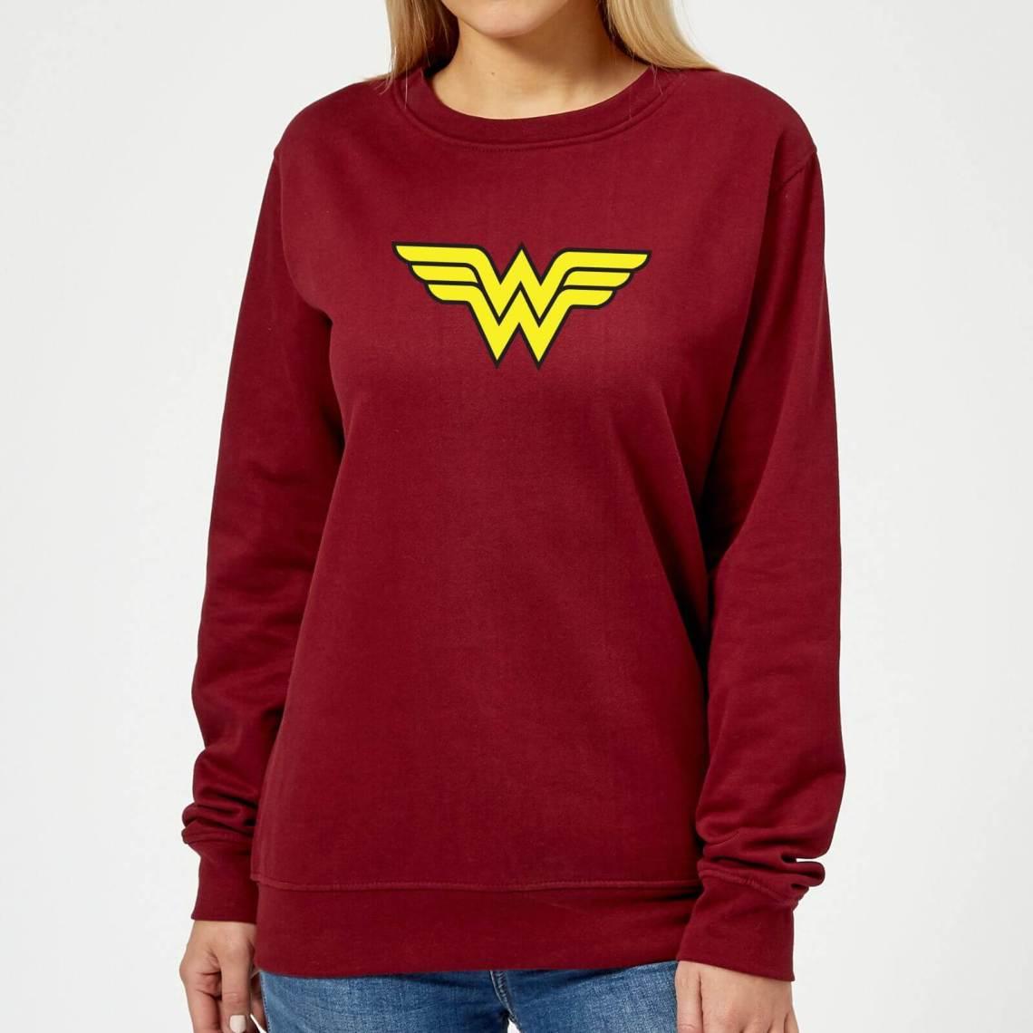 Justice League Wonder Woman Logo Women's Sweatshirt - Burgundy - M - Burgundy