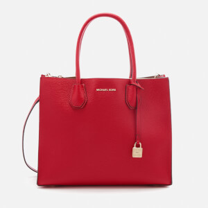 MICHAEL MICHAEL KORS Women's Mercer Large Conversational Tote Bag - Bright Red