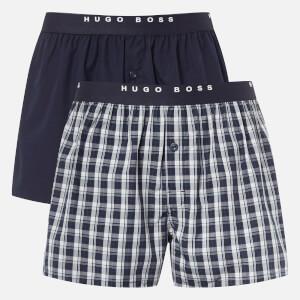 BOSS Hugo Boss Men's 2 Pack Woven Boxer Shorts - Multi