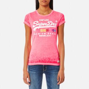 Superdry Women's Premium Goods Burnout T-Shirt - Pink Lemonade