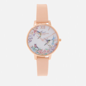 Olivia Burton Women's Painterly Prints Watch - Nude Peach & Rose Gold