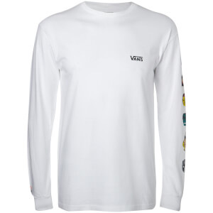 Vans Men's Marvel Characters Long Sleeve T-Shirt - White