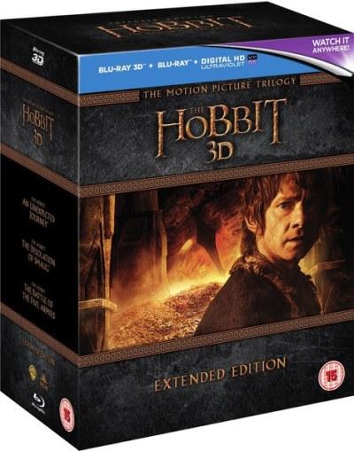 The Hobbit Trilogy 3D - Extended Edition Blu-ray | Zavvi.com