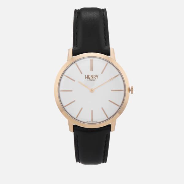 Henry London Mens 40mm Iconic Watch Black