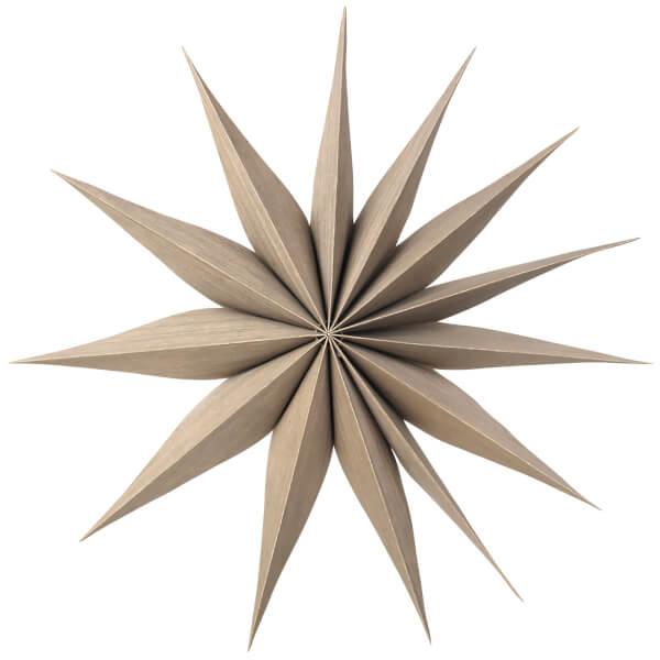 Broste Copenhagen Wooden Star Decoration Venok Medium - Fungi