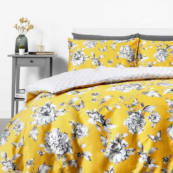 Trend in homeware Sophie Floral Duvet Set - Yellow